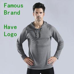 Camisas de manga larga de yoga online-La ropa de yoga de la marca Canana tiene un logotipo de manga larga transpirable para hombre Camisetas de hombre Hoddies Camisetas Jogging Running Sports Fitness T-shirts