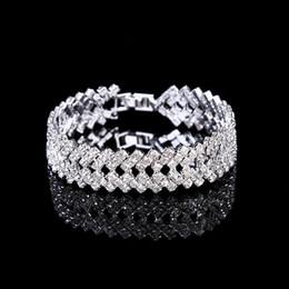 Amandabridal Gümüş / Altın Kristal Düğün Takı Bilezik Kadınlar için Bilezik Kostüm Takı Kübik Zirkonya Elmas Gelin Zincir Bilezik nereden kadınlar için şık kolye tedarikçiler
