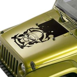 2019 adesivos para jipe Para jeep wrangler rubicon esporte sahara 2 4 portas 2018 personalizar adesivos de carro capô colher gráfico vinil proteger scratch modificado desconto adesivos para jipe