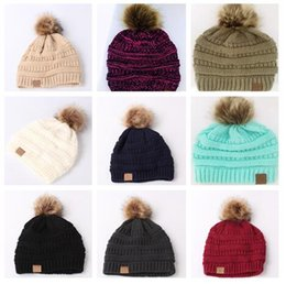 Women s Fashion Knitted Cap Autumn Winter Men Cotton Warm Hat C Skullies  Brand Heavy Hair Ball Twist 12 colors Beanies Hip-Hop Wool Hats da5dca84b5ec