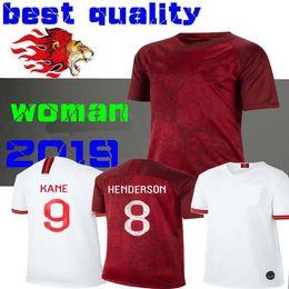 Calcio femminile online-Maglia da donna 2019 Englands World Cup Soccer 9 # KANE 10 # STERLING 11 # VARDY 19 # RASHFORD 20 # DELE Maglie da calcio Donna ragazza lady