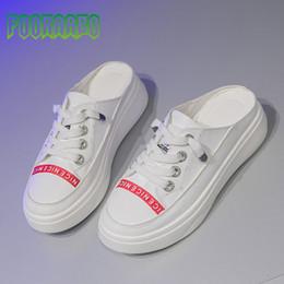 48f5fd4e9 2019 novos sapatos de lona de verão das mulheres plataforma de moda  preguiçosos sapatos brancos chinelos de lona Casuais Para Senhora  caminhando Y1-35 ...