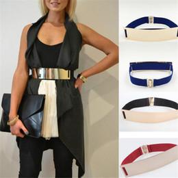Ceinture kim en Ligne-Large ceinture élastique Fashion Embellished Keeper Designer Ceintures Femmes Metal Bling Kim Gold Mirror Large ceinture élastique DHL gratuit