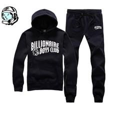 2018 nueva llegada hip hop chándal BILLIONAIRE BOYS CLUB traje de hombre para correr otoño invierno cálido sudadera con capucha calidad BBC Top + pantalones desde fabricantes