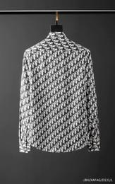 2019 camisa preta gravata branca Mens camisa de marca camisas designer francês Paris Marca de roupas 033 homens manga longa estilo da camisa Hip Hop algodão de alta qualidade 2019 nova chegada