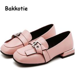 Vestido de menina bebê preto rosa on-line-Bakkotie 2019 outono crianças moda pu sapatos de couro novo bebê meninas sweet pink partido shoes princesa moda black dress