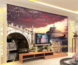 amerikanische tapeten Rabatt 3d Wallpaper Für Küche Europäischen und Amerikanischen stadtlandschaft Wohnzimmer Schlafzimmer Hintergrund Wanddekoration Wandbild 3d Tapeten