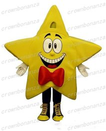 traje estrela mascote Desconto Amarelo estrela de cinco pontas Mascot Costume Anime Tema Estrela Carnaval Halloween Traje Dos Desenhos Animados Caráter Festa de Aniversário de Natal Sui