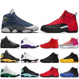 Grau jordan retro 13 schuhe männer online-nike nike Air jordan retro 12 13s LuftJordanRetro12 12s Basketballschuhe für Herren Bulls CNY University Blue Game Royal UNC 12s Herren Outdoorschuhe