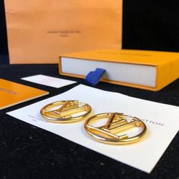 Palavras de brinco on-line-2019 Top bronze marca Brinco de luxo de qualidade palavras ocas em 18 K banhado a Ouro gancho forma com logotipo gota Brincos Mulheres Marca jóias gi