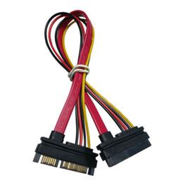 cavo adattatore per dati di alimentazione Sconti Presa combinata di alimentazione seriale SATA 7 + 15 pin Cavo 1pcs Cavo adattatore di alimentazione seriale Cavo TA SATA di vendita caldo al cavo HDD