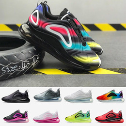 Argentina Barato 720 Hombres Mujeres Zapatos para correr Northern Lights Night MULTICOLOR Triple Negro Eclipse Total Cool Gris Volt Be TRUE Trainer Sport Sneaker supplier running shoes cheap Suministro