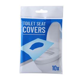 2019 capa de polpa moda descartáveis 10pcs WC Pad / lot banheiro portátil Seat Covers Travel Hotel Dissolvido água WC descartáveis de papel T2I5835