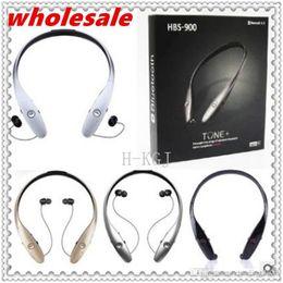 Deutschland Entwerfen Sie HBS900 HBS-900 Wireless Sport Nackenbügel Headset In-Ear Bluetooth Stereo Kopfhörer Headsets für LG HBS900 iPhone Samsung cheap bluetooth neckband earphones Versorgung