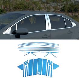 Sill toyota on-line-Pilares Stainless Steel Car-Styling Kit Acessórios Whole Peitoril de Janela Guarda Capa Trims para Toyota Corolla Sedan E210 2019-2020