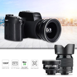 cámara zoom dslr Rebajas D7100 HD 33MP 3 '' LCD con zoom 24X LED Cámara réflex digital con foto Cámara de video