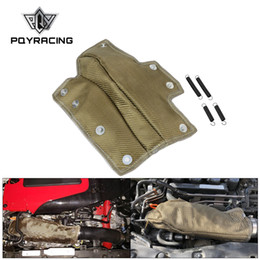 Assorbimento del turbocompressore online-PQY - Lava Inlet Pipe Cover Turbocharger Heat Shield Cooler di aspirazione ad alta temperatura termica per Honda Civic 1.5T PQY-TBF06