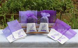 Wholesale 8 Estilos Purple Cotton Organza Lavender Sachet Bag DIY Secado Flor Ward Party Decoraciones Centrales Adorno de Navidad dc120