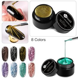 Mtssii Creative Wire Drawing Spider Nail Gel Point To Line Painting Gel Varnish Lacquer Pulling Silk Spider Nail Art Polish от