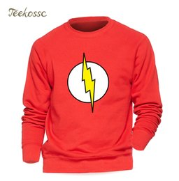 Rote hoodie-designs online-Superman Serie The Flash Sweatshirt Männer Rot Hoodie Graue Sweatshirts Winter Herbst Fleece Warm Graphics Design Streetwear Mens