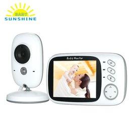 Цветной ЖК-монитор Беспроводной видеонаблюдения Детские колыбельные Мониторы высокого разрешения Ночное видение Двухсторонний мониторинг температуры от