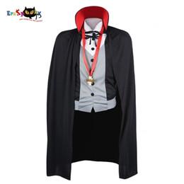 2020 disfraces masculinos de fantasia Los trajes de los hombres traje del vampiro de Halloween del varón adulto de la fantasía gótica de Cosplay del vestido de lujo del cabo del capote del collar del soporte de la fiesta CarnivalMX190921 disfraces masculinos de fantasia baratos
