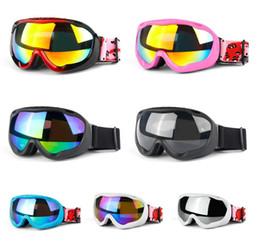 Gafas para esquiar online-2019 hombres mujeres marca gafas de esquí de doble capa antivaho gafas de esquí Snow Googles snowboard máscara de esquí gafas de sol gafas de invierno