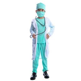 Anime menino uniforme on-line-Hospital médico crianças cirurgião Dr Uniforme Meninos Child Career Halloween Cosplay