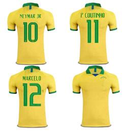Maglia da calcio Brasile 2019 2020 G.JESUS P.COUTINHO FIRMINO maglia da calcio gialla CASEMIRO MARCELO maglia da calcio bianca maglia da calcio Brasil da