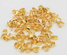 Bijoux pincer bails en Ligne-100pcs plaqué or Bail Bale Pinch Clasp Pour les perles conclusions pendentif fabrication de bijoux!