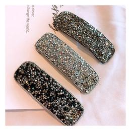 Accesorios de moda niña de pelo online-CC Joyas de moda Barrettes de cristales para mujer BlingBling Pinzas para el cabello Elegancia Accesorios para el cabello Moda para mujer