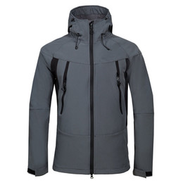 26b8cc846e 2019 New men s outdoor camping hiking sports north jacket composite velvet  soft shell face coat 1705