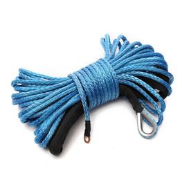 tremonhas Desconto Corda de cabo de linha de guincho sintético de nylon de 6MM x15M com bainha azul para ATV UTV VS998