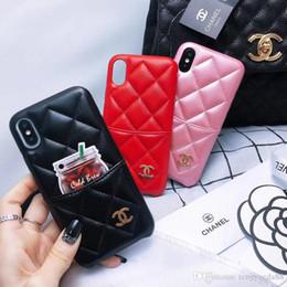 Housses d'iphone pour femmes en Ligne-Housse en cuir de téléphone de mode pour iPhone XSMAX XR XS 6 7 8 Plus fille femmes Designer pour iphone 6 6s couvre iphone 7 8plus cas