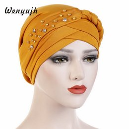 tampas de cabelo africano Desconto Cap Estilo Africano Headwear Cap Estilo Africano Turbante Muçulmano Acessórios Para o Cabelo Moda Feminina Trançado Sólidos Bandanas Headwear # Novo
