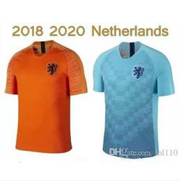 Camisa de futebol laranja on-line-2018-19-20 Nederland camisola de futebol fora de casa laranja MEMPHIS JERSEY ROBBEN 18 19 Holanda tailandesa qualidade V.Persie Camisolas de futebol holandesas