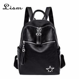 sac à dos coréen simple Promotion Nouvelle mode coréenne simple sac à dos en cuir souple femmes vent étudiant sac à dos grande capacité sac de voyage