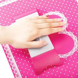 la pratique du tapis Promotion NA052 Oreiller Main Titulaire Nail Art Salon Pratique Coussin En Dentelle Table Lavable Mat Pad Pliable Lavable Manucure Outil