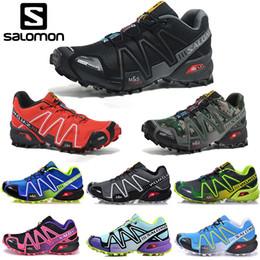 Zapatos través funcionamiento de velocidad online-Salomon Speed Cross 3 CS Zapatillas de running Hombres Mujeres SpeedCross Zapatillas de deporte para caminar al aire libre Negro Blanco Azul Rojo Diseñador Zapato deportivo Tamaño 36-46