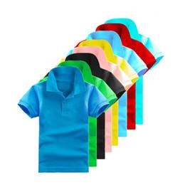 T da moda criança on-line-T-shirt do bebê Cor Sólida Da Criança Meninos Pólo Camisa Nova Verão Crianças T-shirt Da Moda Infantil Roupas Crianças Roupas Meninas Tops Tees