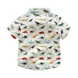 2019 Verão Bebê Meninos Camisa Bonito Dinossauro Casual Dos Desenhos Animados Selvagem de Manga Curta Roupas infantis camisa de Roupas cheap 3t dinosaur shirt de Fornecedores de 3t camisa de dinossauro