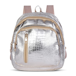 wholesale small black beads Promo Codes - Women Backpack New Fashion Casual PU Leather Female feminine backpack for teenage girls school bag solid mini Small backpack