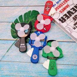 entspannende geschenke Rabatt Drucklos entspannen Dekompression Spielzeug Handpresse Mini Fan Super Hero Avengers Cartoon Captain America Hulk Iron Man Geschenk für Kinder