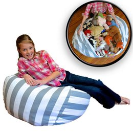 bean bag dolls Promo Codes - 16 18 24 inch Storage Bean Bags Beanbag Chair Kids Bedroom Stuffed Animal Dolls Organizer Plush Toys Buggy Bags Baby Play Mat