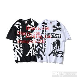 a072dfe73cfc 2019 estate mens vestiti coppia manica corta lettera stampato cotone  t-shirt uomo donna bianco nero 2 colori polo camicie tee shirts homme MN-3  sconti ...