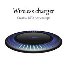 Творческий НЛО беспроводное зарядное устройство QI мобильный телефон 10 Вт быстрая зарядка ДЛЯ: iPhone8 / X Samsung Huawei Mate20 просо портативное зарядное устройство от