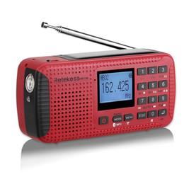 2019 gravador de rádio digital Rádio portátil de emergência manivela rádio FM receptor solar sw sw com tf bluetooth mp3 player gravador digital desconto gravador de rádio digital