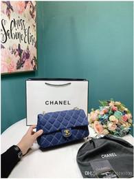 Pelle soletta portafogli online-Luxurys DESIGNERS delle donne di marca delle borse delle signore design solido Colore alfabeto RICAMO bracciale a catena PORTAFOGLIO IN PELLE Borsello BORSE MI0189