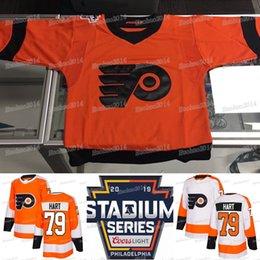 2019 Stadium Series Philadelphia Flyers Carter Hart 28 Claude Giroux Shayne  Gostisbehere Travis Konecny Ivan Provorov Jakub Voracek Jerseys d0fee48a8