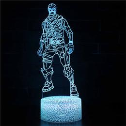 2019 projetores de vela Fort Nite Cool Solider 3D Luz Da Noite para Meninos Quarto Design LED Nightlight 16 Cor Mudando por Controle Remoto